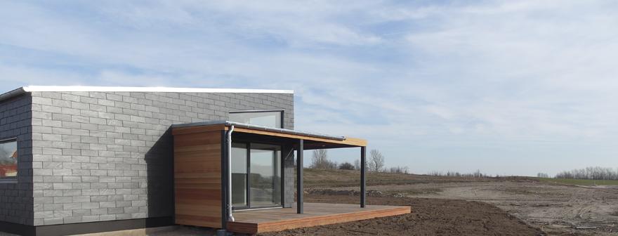 Arkitekttegnet lavenergihus fra FutureHouse i energiklasseAA