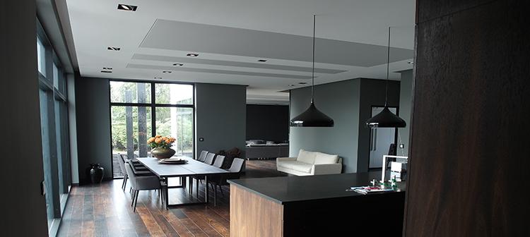 Arkitekttegnet lavenergihus fra Future House med lækkert interieur